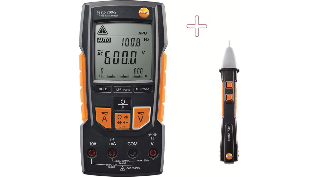 Köp Multimeter digital with Non-contact Voltage Tester TRMS AC+DC 600 VAC