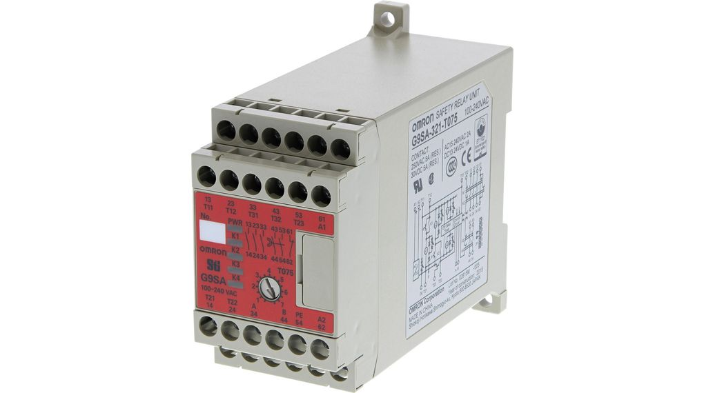 Safety Relay 24V 5A 3NO 1NC on