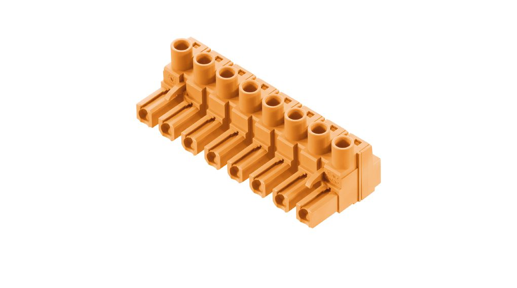 2 Ways 7.62 mm 2.5 mm² 24 AWG Pluggable Terminal Block 12 AWG Screw